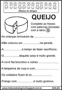 Portuguese Lessons, Myla, Professor, Teaching, Education, School, Natural, Letter C Activities, Visual Perceptual Activities