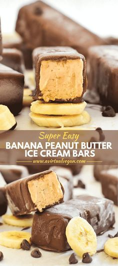 You are going to love these Super Easy Banana Peanut Butter Ice. You are going to love these Super Easy Banana Peanut Butter Ice Cream Bars! They are ridiculously easy to make & only have 5 ingredients (plus salt)! Peanut Butter Ice Cream, Vegan Ice Cream, Peanut Butter Banana, Banana Ice Cream, Sugar Free Ice Cream, Oreo Ice Cream, Easy Peanut Butter Cookies, Banana Bars, Nutter Butter