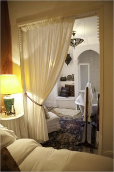 Cover Doorways With Opposite Sided Curtains