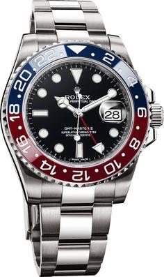 Rolex Cerachrom Pepsi Bezel GMT Master II Watch