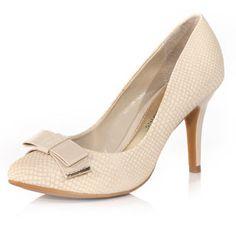 Nude mid heel court shoes $55