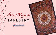 online indian star mandala Tapestry are Available at Handicrunch