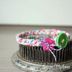 Kids Craft Week at @Doodlebug Design Inc Braided twine bracelet #doodlebug #twine #kid #craft