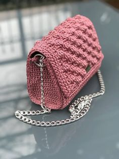 Crocheted handbag 24*19*10
