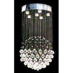 "The Gallery Modern Chandelier ""Rain Drop"" Chandeliers Lighting With Crystal Balls H32"" X W18"""
