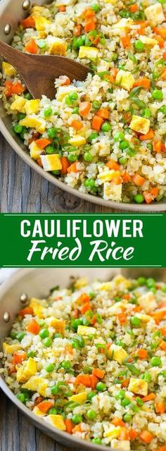 Cauliflower Fried Rice | only 158 calories a serving