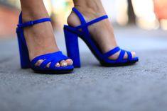 Cobalt Blue Zara sandals