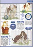 Schema punto croce Cuccioli Cani 3