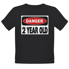 2 year old danger sign shirt for toddlers in the terrible twos!
