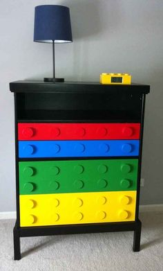 Here is LEGO, and its own character's color can create the space that does not seem dull. You do not have to be a child to play with Legos though it's somewhat odd to watch an adult.read more>>> 44 Shocking DIY Lego Themed Bedroom For Kids Room Ideas Furniture Projects, Furniture Makeover, Diy Projects, Dresser Makeovers, Furniture Nyc, Urban Furniture, Black Furniture, Farmhouse Furniture, Furniture Online