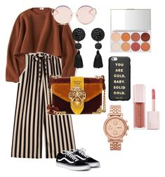 """brown nudes brown nudes"" by ayu-kencana-putri ❤ liked on Polyvore featuring Uniqlo, Prada, N°21, ban.do, FOSSIL and Puma"