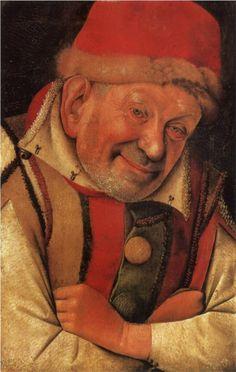 Portrait of the Ferrara Court Jester Gonella, 1442 Jean Fouquet - by style - Northern Renaissance