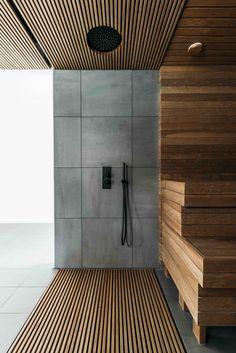 House in Pirita by Kadarik Tüür Arhitektid Sauna Design, Küchen Design, House Design, Sauna Steam Room, Sauna Room, Saunas, Modern Bathroom Design, Bathroom Interior Design, Sauna A Vapor