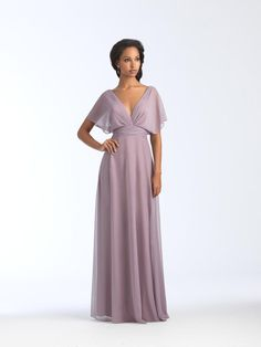 Size 16 Mauve- Allure 1562 has beautifully draped stretch chiffon that is tucked and ruched along the deep neckline and bodice of this A-line bridesmaid gown. A wide pleated bodice and draped short sleeves complete the look. Sheer Chiffon, Chiffon Skirt, Allure Bridesmaid Dresses, Wedding Dresses, Bride Dresses, Wedding Bridesmaids, Prom Dresses, Maid Of Honour Dresses, Bridal And Formal