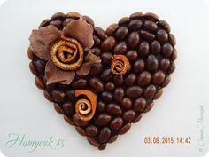 Поделка изделие Аппликация Кофейные магниты и цветочная коробочка Картон Клей Кофе Кружево Ленты Материал природный фото 1