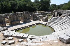 Ruins of a theater of Buthrotum, once an important settlement along the coast of Epirus, now  Butrint, Albania