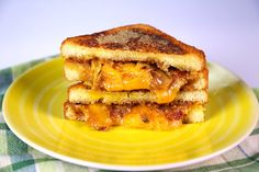 Grilled Cheese with Bacon-Onion Jam Recipe by Michael Symon
