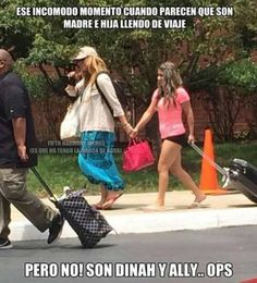 Mom Dinah and daughter Ally xD.