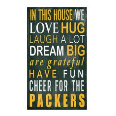 Green Bay Packers In This House Wood Sign
