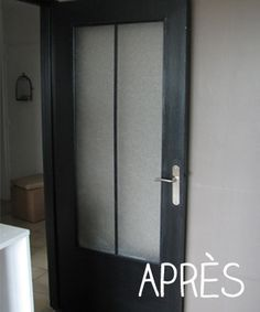 Diy une porte atelier a partir d 39 une porte vitree bricolage en 2019 door design home - Relooker une porte ...