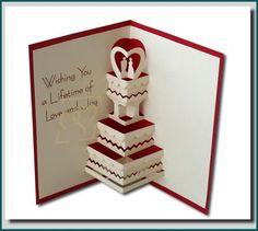 Wedding Card Handmade Pop Up Greeting