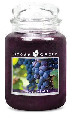 Goose Creek Scented Candles Tuscan Vineyard Large Jar Candle Great Fragrance 24 oz #jarcandles