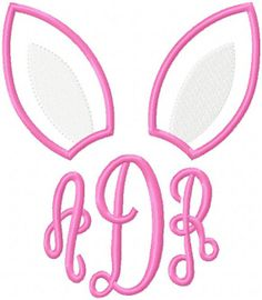 Personalized Bunny Ear Monogram Easter Shirt T-shirt - Sample Sale