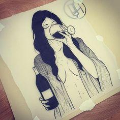 Resultado de imagem para wine tattoo