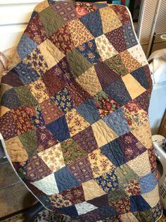 Accuquilt tumbler quilt.                                                                                                                                                                                 More