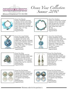 Many examples-jewelry line sheet - Google Search | Line Sheets ...