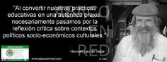 La reflexión crítica sobre contextos... www.facebook.com/ABACOenRed  y  www.abacoenred.com