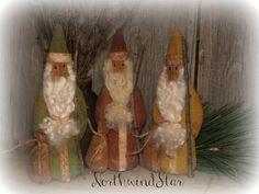 Primitive Christmas Belsnickels Santa Doll Shelf by northwindstar