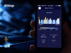 Withings Aura #iPhone #app #ui by @User Studio