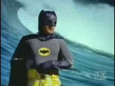 Batman can surf...and he doesn't even have to crouch down! lol!