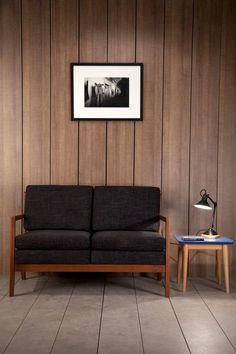 Kora Anthracite Sofa Kann, designed by José Pascal, is a two seats sofa characterized by the symmetry of design, a double base of equal squares and an optical effect that mirrors one place with another. Love Seat, Furniture, Living Room, Sofa, Home, Sofas, Home Decor, Canape Sofa, Room