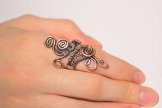 Alambre envuelto anillo cobre regalo de las mujeres las