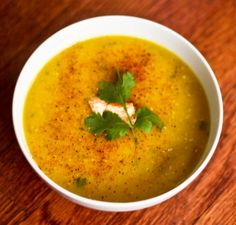 Egyptian Red Lentil Soup (recipe from Food.com) http://www.food.com/recipe/egyptian-red-lentil-soup-94673