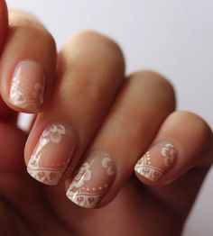 Bell, something like this would be perfect since you said your nails are too short for a french