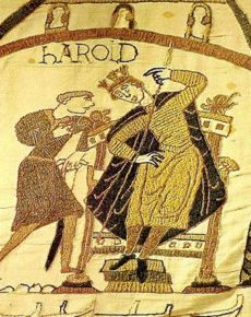 Kingmakers - The Story of the House of Godwin - Harold from the Bayeux Tapestry History Major, European History, British History, Bayeux Tapestry, Medieval Tapestry, Anglo Saxon Kings, Courtly Love, Medieval Embroidery, Romanesque Art