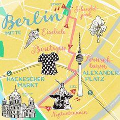 Berlin Kiez Map for Babbel by Theresa Grieben