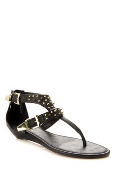 """""""Bamboo Spiked Thong Sandals"""" is great for this summer to show off some edge and comfort! check out the summre sandals we have at www.cicihot.com #cicihot #spikes #sandals #summer #edgy #chic"""