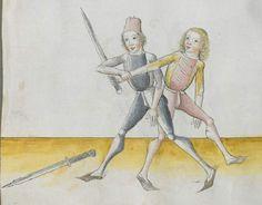 Lecküchner, Hans: Kunst des Messerfechtens Nordbayern, 1482 Cgm 582 Folio 172