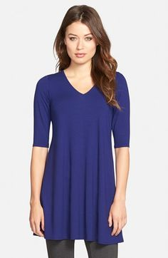a45af523c7 Eileen Fisher V-Neck Tunic (Regular  amp  Petite) available at  Nordstrom