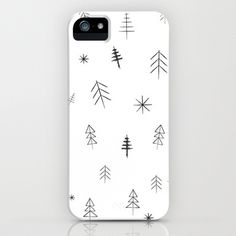O Christmas Trees iPhone Case by Three Lives Left
