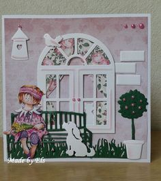hond en poes 3d Cards, Xmas Cards, Cute Cards, Art Deco Cards, Album Scrapbook, Washi Tape Crafts, Art Journal Prompts, Owl Card, Window Cards