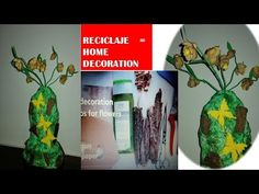 Hello everyone and welcome to a new video! How to make a vase with flowers from recycled material? It's a tutorial that uses plastic bottle,cardboard,newsp. Tree Bark, Give It To Me, How To Make, Plastic Bottles, Hello Everyone, Recycling, Vase, Make It Yourself, Animal