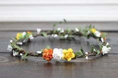 Wedding Flower Crown Bridal Flower Crown by myfashioncreations