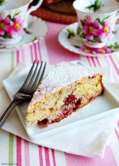 Cherry Berry Vanilla Tea Cake