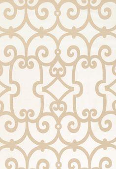 Fabric | Manor Gate in Sand | Schumacher