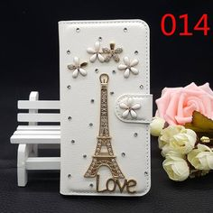 25Style For Huawei P8 Lite Mini Bling Luxury Handmade Rhinestone Phone Case PU Leather Cover Wallet Protective Case For P8 Lit